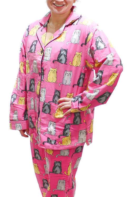 Wise Cats Women's Flannel Lounger (M & XL only)