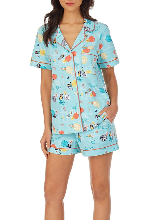 Beach Vacay Women's Stretch Shorty Pajama Set