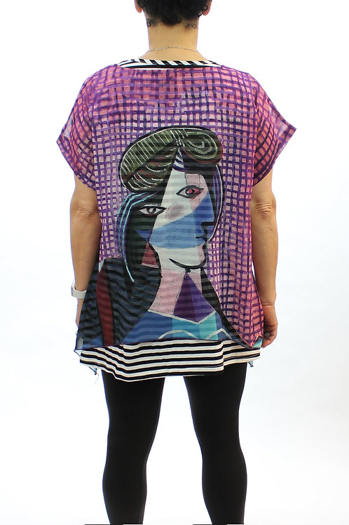 Mod art layered top