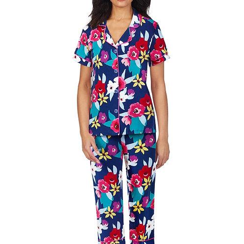 Painter's Floral Women's Stretch Capri Pajama Set