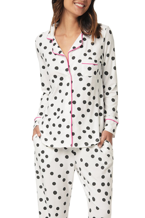 Dot Calm Women's Stretch Pajama Set