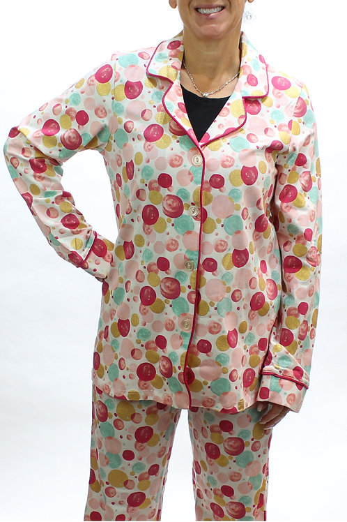 Multi Bubbles Women's Stretch Pajama Set