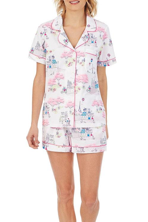 Printemps Women's Stretch Shorty Pajama Set