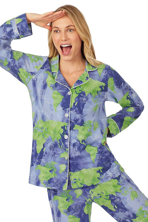 Earth Map Women's Stretch Pajama Set
