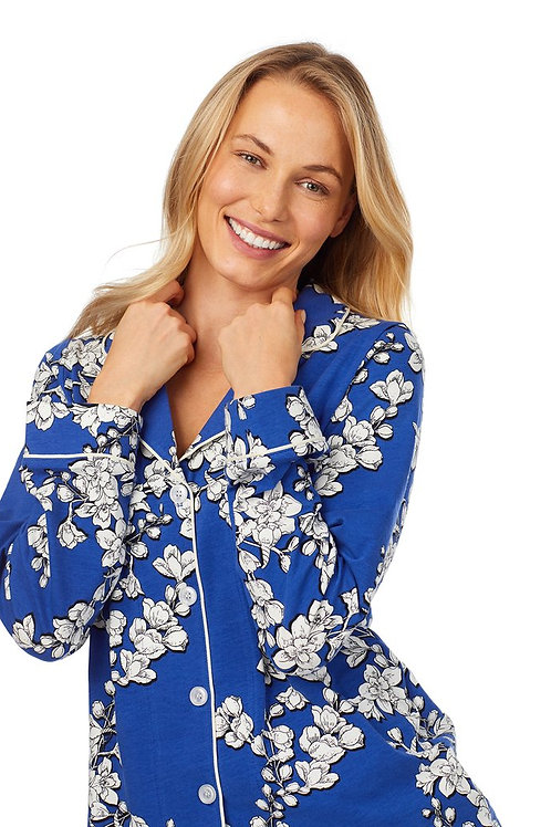 Blue Floral Women's Stretch Pajama Set (XS & S only)
