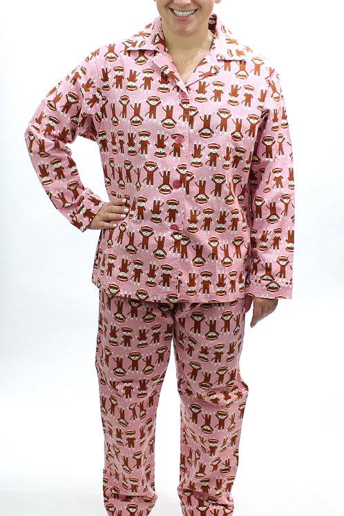 Happy Monkeys Women's Flannel Lounger