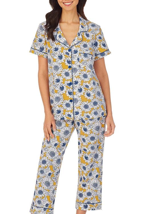 Sunflowers Women's Stretch Capri Pajama Set
