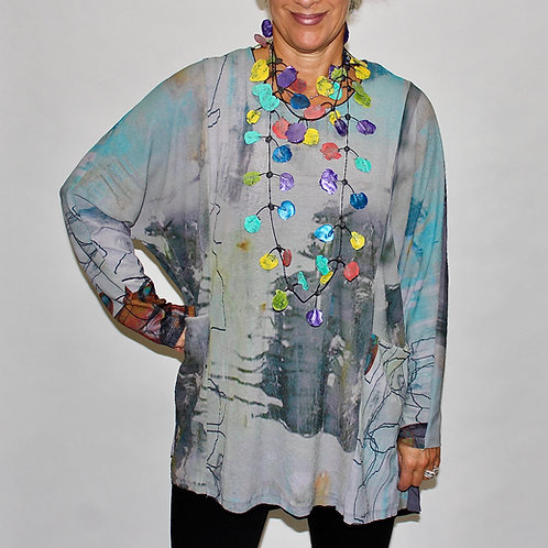 multi coloured pull over