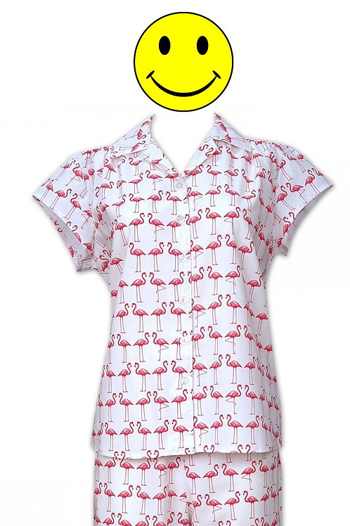 Flamingo Women's Cotton Pajama Set