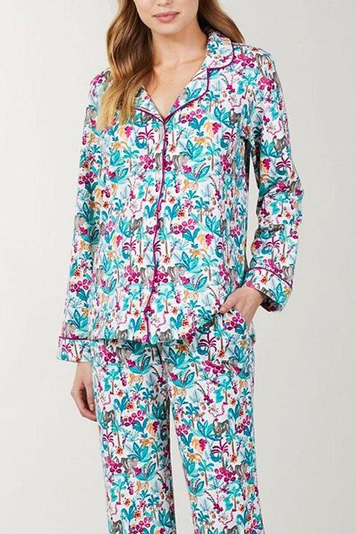 Into the Jungle Women's Stretch Pajama Set
