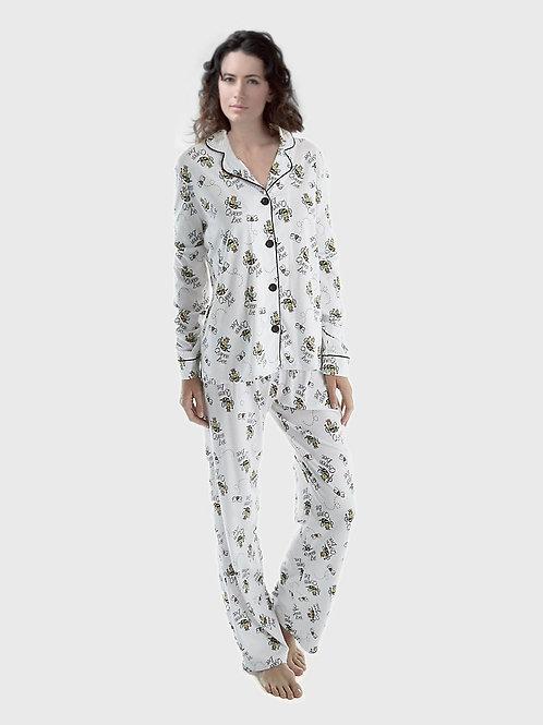 Queen Bee Women's Stretch Pajama Set