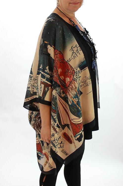 Mischief Silk Kimono