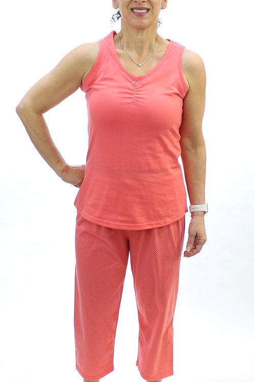 Women's Stretch Tank & Capri Pajama Set