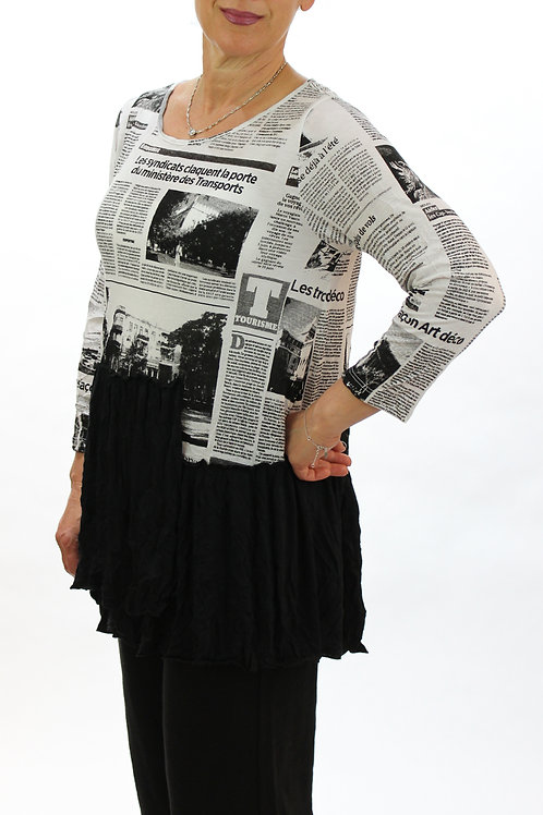 Layered Newsprint Top