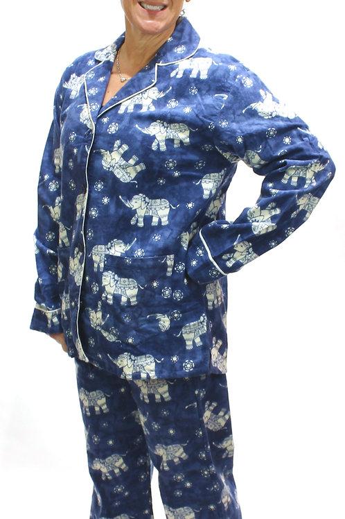 Lucky Elephants Women's Flannel Lounger