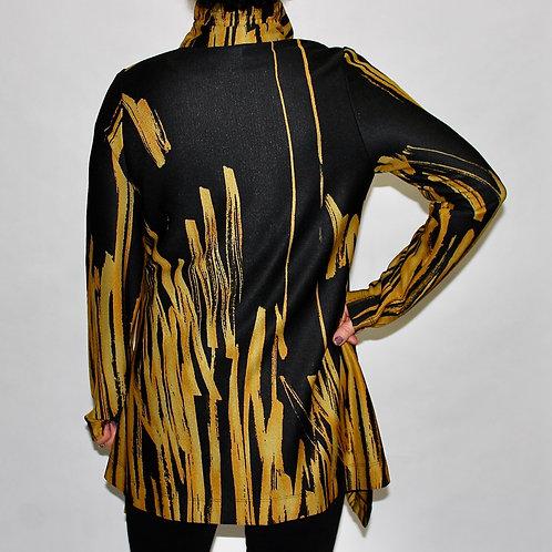 mustard splash wire collar jacket