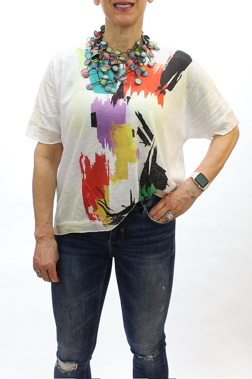 Abstract Brushstrokes S/S Top