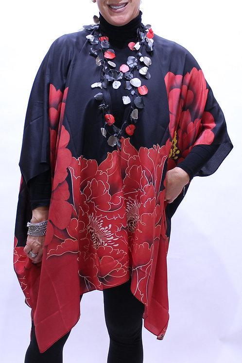 Majesty print silk kimono jacket