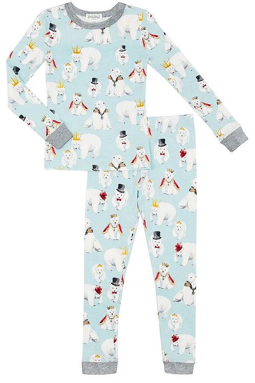 Kids' Polar Bears Stretch Pajama Set