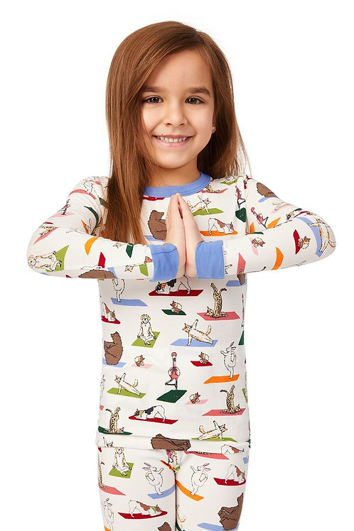 Kids' Zen at the Zoo Stretch Pajama Set