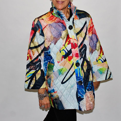 multi coloured quilted jacket