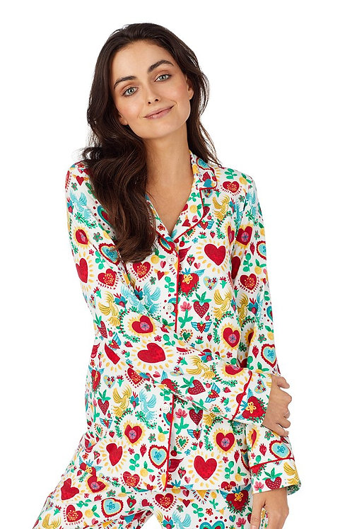 Sacred Hearts Women's Stretch Pajama Set