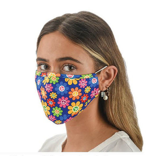 Face Mask Flower Power Print