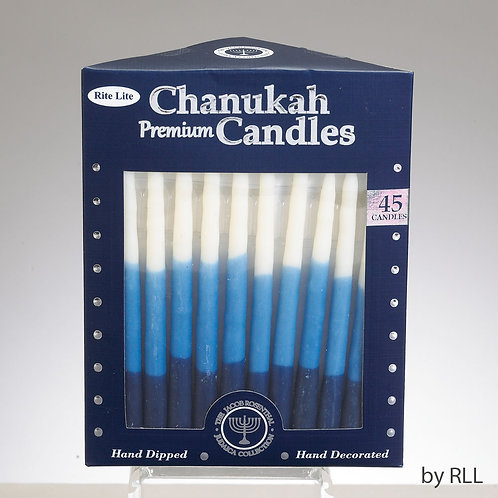 Hand dipped Chanukah candles - Box of 45