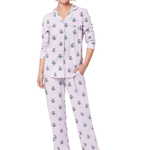 Lilac Queen Bee Women's Stretch Pajama Set