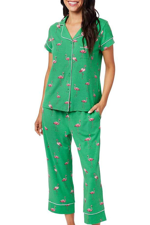 Flamingo Women's Stretch Capri Set