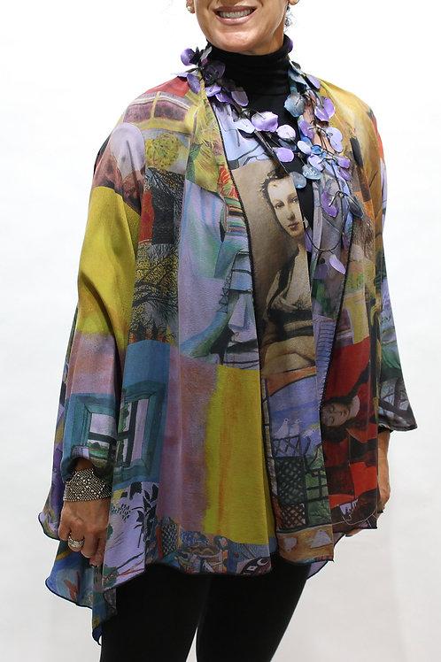 Silk Art Duster - Lilac