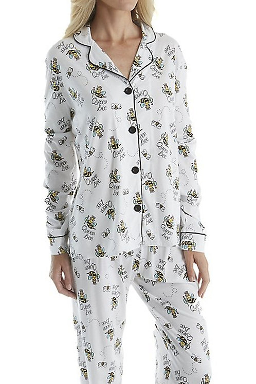 Queen Bee Women's Stretch Pajama Set