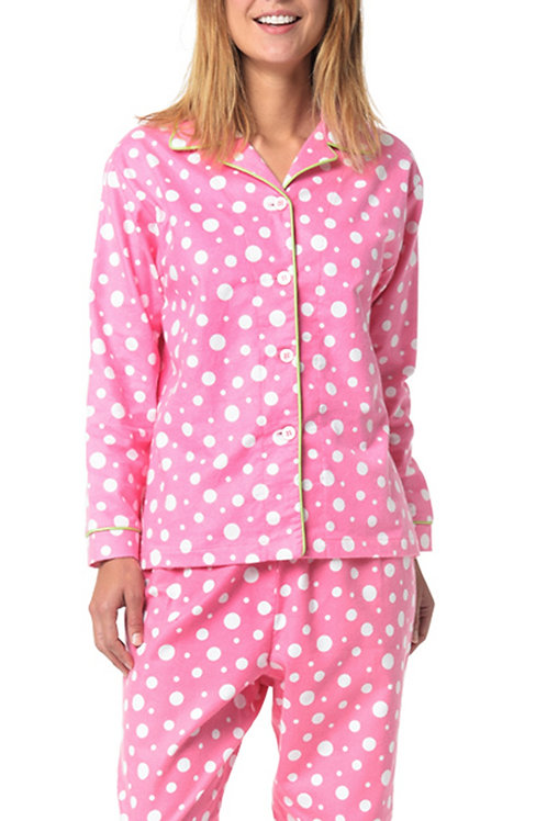 Pink Dot Women's Flannel Lounger (XL only)
