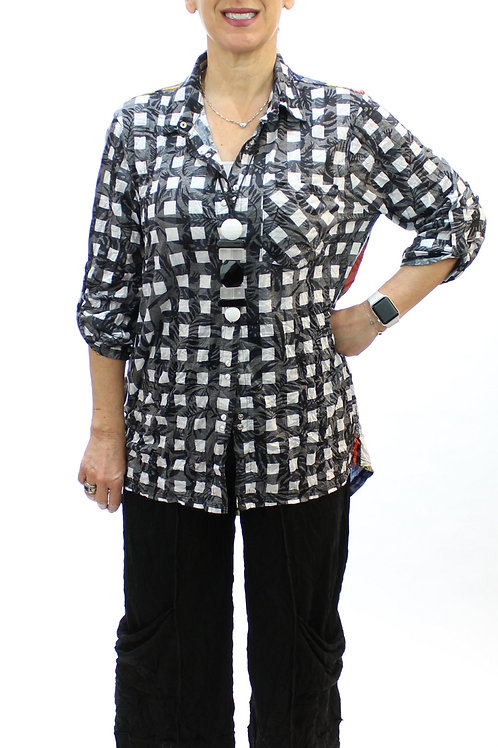 B&W Check Blouse