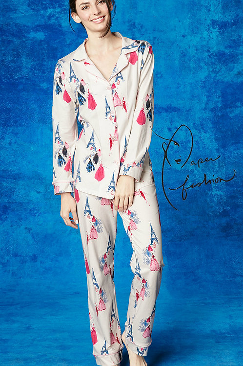 Paris Fashion Week Women's Sateen Pajama