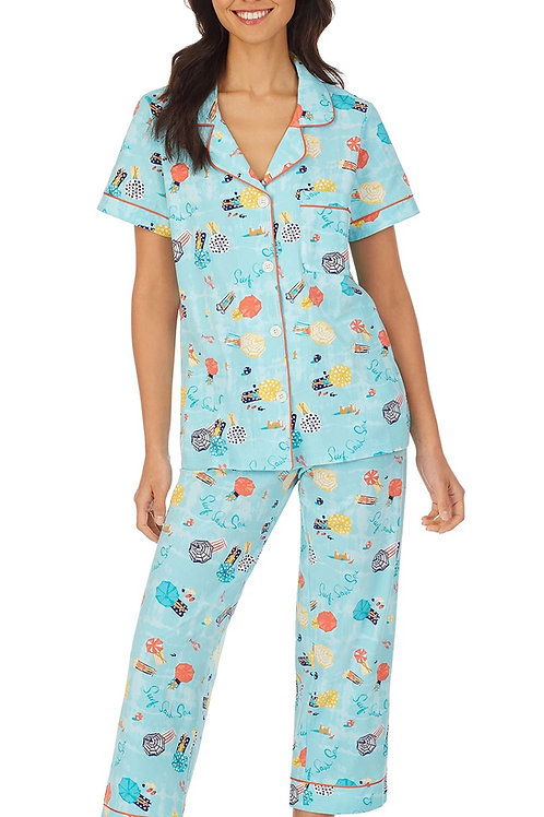 Beach Vacay Women's Stretch Capri Pajama Set