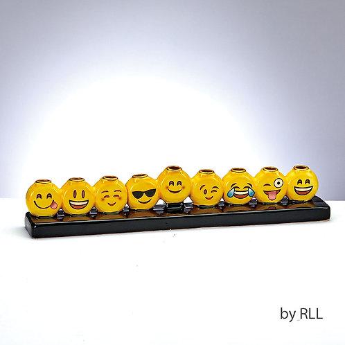 Ceramic Emoji Menorah