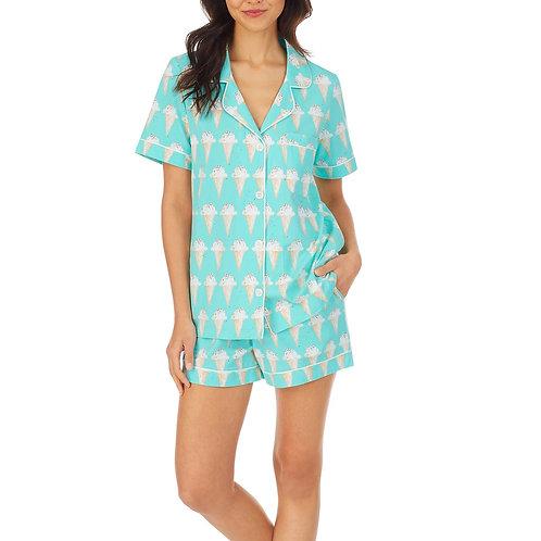 Ice Cream Women's Stretch Shorty Pajama Set