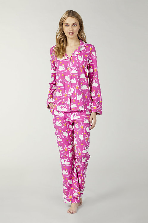 Swans in Love Women's Stretch Pajama