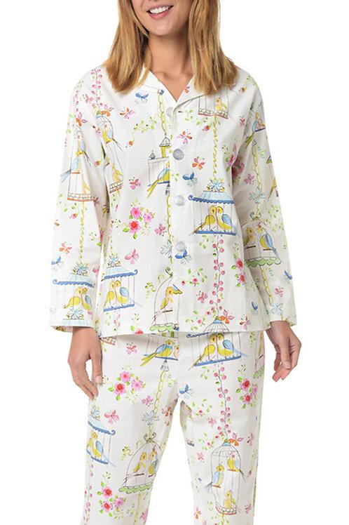 Lovebirds Women's Cotton Pajama Set