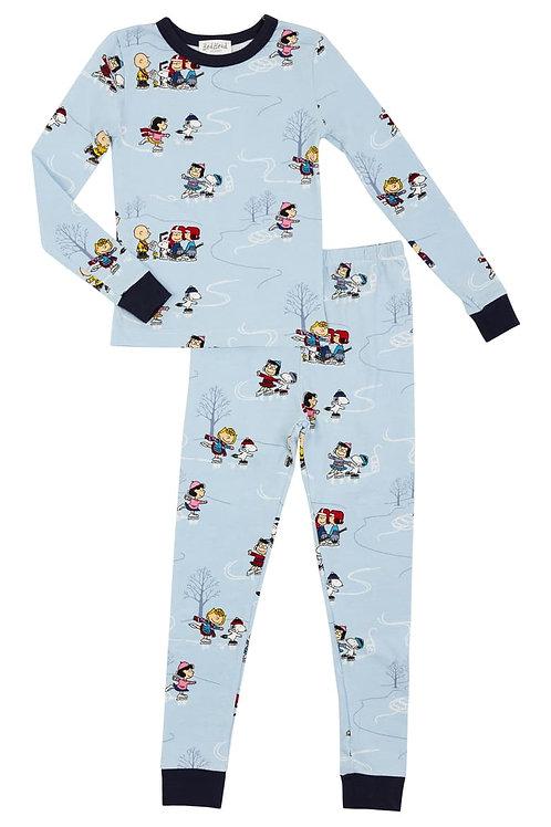 Kids' Peanuts on Ice Stretch Pajama Set