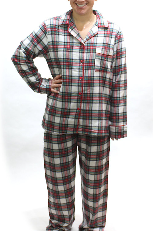 Holiday Plaid Women's Flannel Lounger