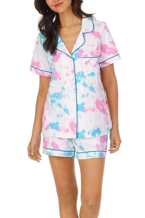 Tie Dye Women's Stretch Shorty Pajama Set