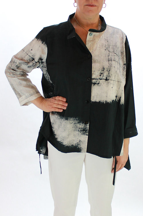 High Low Black/White Blouse