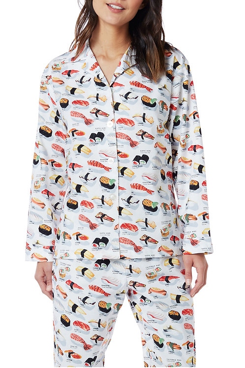 White Sushi Women's Flannel Lounger