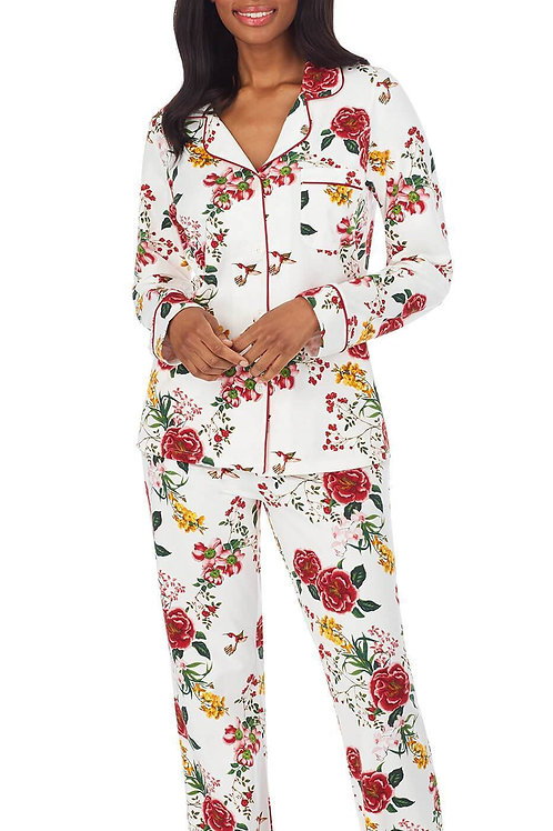 Botanical Women's Stretch Pajama SetWht