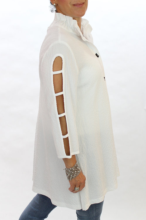 Cut Out Sleeve Blouse
