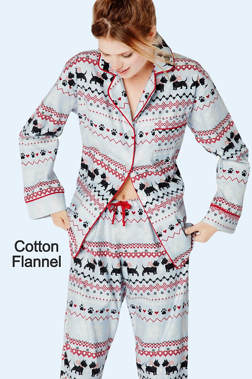 Scotty Fair Isle Women's Flannel Lounger