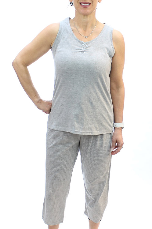 Women's Stretch Tank & Capri Pajama Set