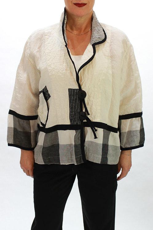 Plaid/White Jacket